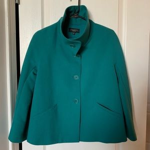 Talbots teal wool blend jacket size 6